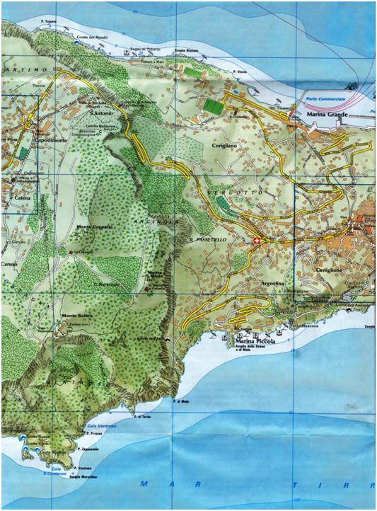 Karten von der Insel Capri