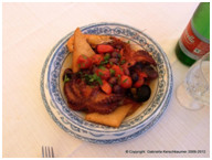 Fischgericht (18 Euro) des Restaurants