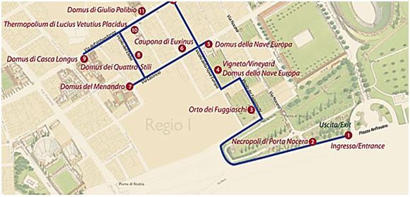 navigate in Pompeii